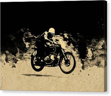 Bmw Racing Classic Bmw Canvas Print - The Vintage Motorcycle Racer by Mark Rogan
