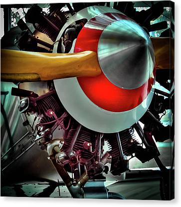 Canvas Print featuring the photograph The Vintage Stearman C-3b Biplane by David Patterson