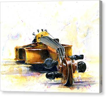 The Violin Canvas Print by John D Benson