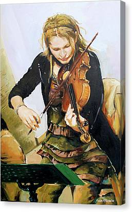 The Violinist Canvas Print by Conor McGuire