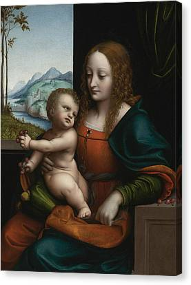 The Virgin And Child By A Window Canvas Print by Giampietrino