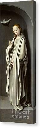 The Virgin Annunciate Canvas Print by Gerard David