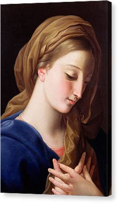 The Virgin Annunciate Canvas Print by  Pompeo Girolamo Batoni