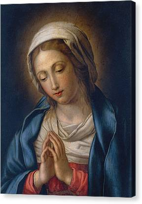 The Virgin At Prayer Canvas Print