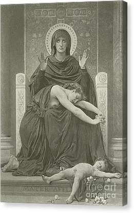 The Virgin Comforter Canvas Print by William-Adolphe Bouguereau