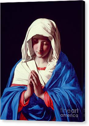 The Virgin In Prayer Canvas Print by Il Sassoferrato