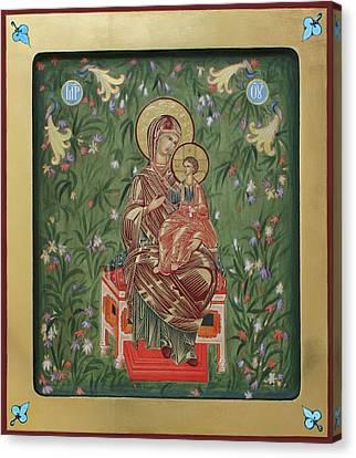 The Virgin In The Garden Of Eden Canvas Print