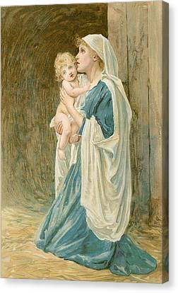 Lawson Canvas Print - The Virgin Mary With Jesus by John Lawson