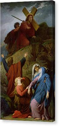 The Virgin Of Calvary Canvas Print by Jules Eugene Lenepveu