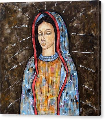 The Virgin Of Guadalupe Canvas Print by Rain Ririn