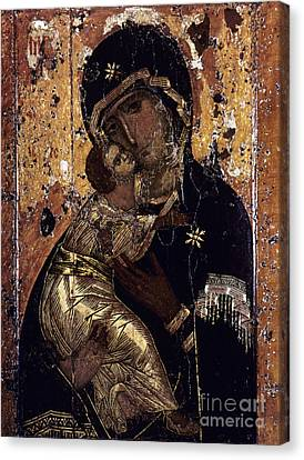 The Virgin Of Vladimir Canvas Print by Granger