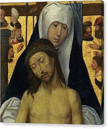 The Followers Canvas Print - The Virgin Showing The Man Of Sorrows by Follower of Hans Memling