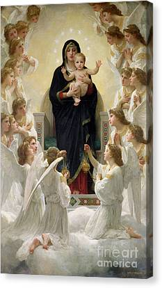 The Virgin With Angels Canvas Print