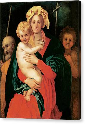 The Virgin With Child Canvas Print by Jacopo Da Pontormo
