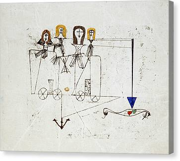 The Virtue Wagon  Canvas Print by Paul Klee