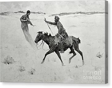 Spirits Canvas Print - The Vision by Frederic Remington