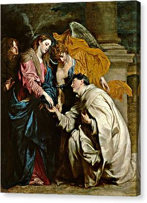The Vision Of Blessed Herman Joseph Canvas Print