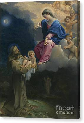 The Vision Of Saint Francis Canvas Print by Lodovico Carracci