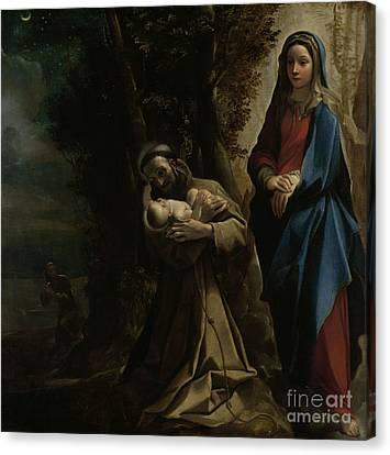 Francis Canvas Print - The Vision Of Saint Francis Of Assisi by Lodovico Carracci