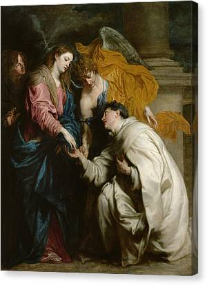 The Vision Of The Blessed Hermann Joseph Canvas Print by Anthony van Dyck