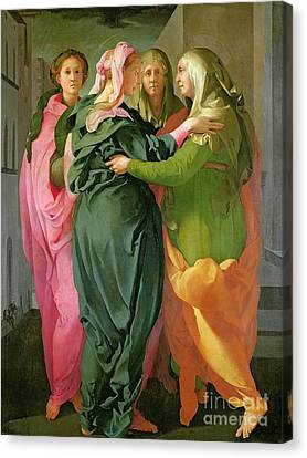 The Visitation Canvas Print by Jacopo Pontormo