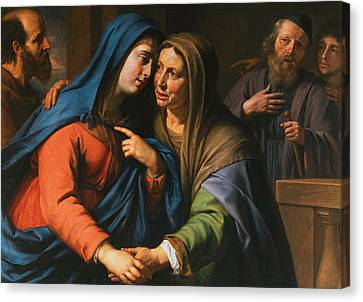 The Visitation Canvas Print by Philippe de Champaigne