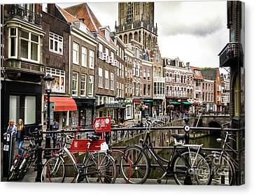 Canvas Print featuring the photograph The Vismarkt In Utrecht by RicardMN Photography