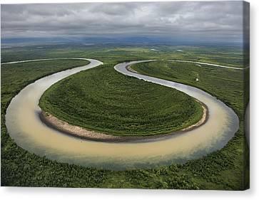 The Vyvenka River Loops Canvas Print by Randy Olson