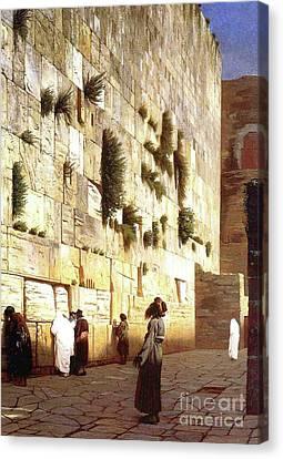 The Wailing Wall, Jerusalem, 1869 Canvas Print by Jean Leon Gerome