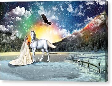 The Waiting Bride Canvas Print
