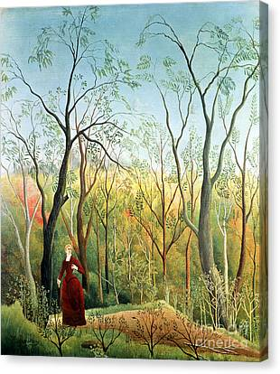 The Walk In The Forest Canvas Print by Henri Rousseau