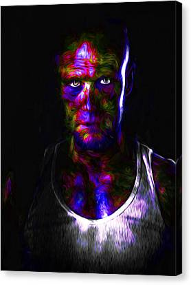 The Walking Dead Painted Michael Rooker Merle Dixon Canvas Print by David Haskett