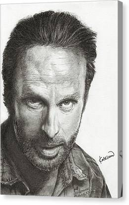 The Walking Dead Rick Canvas Print by Kathleen Wong