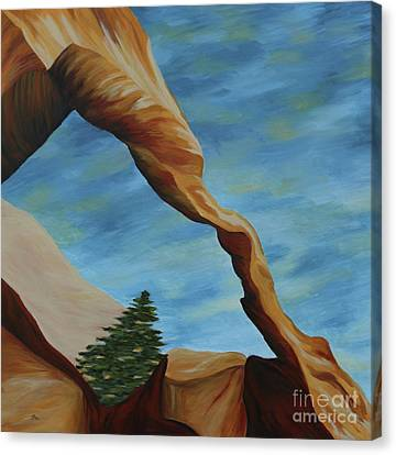 Canvas Print featuring the painting The Wall Arch II by Christiane Schulze Art And Photography