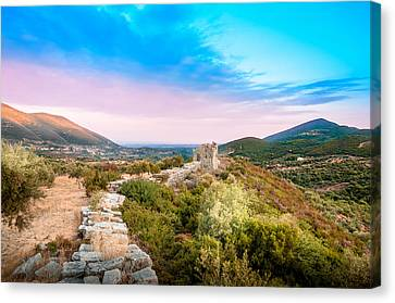 The Walls Of Ancient Messene - Greece. Canvas Print