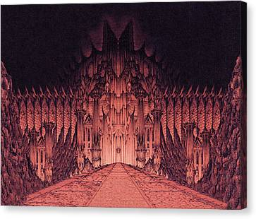 The Walls Of Barad Dur Canvas Print by Curtiss Shaffer