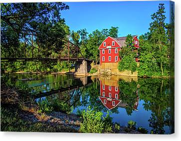 The War Eagle Arkansas Mill And Bridge - Northwest Arkansas Canvas Print