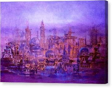 Canvas Print featuring the painting War Effects In Syria by Laila Awad Jamaleldin