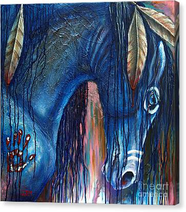 The War Within Canvas Print by Jonelle T McCoy