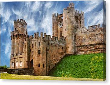 The Warwick Castle - Da Canvas Print
