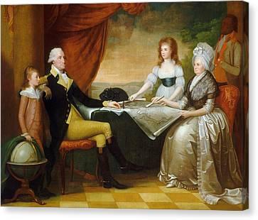 The Washington Family Canvas Print by Edward Savage