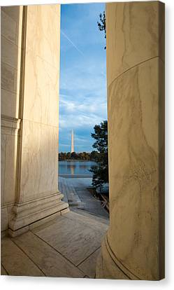 The Washington Monument From The Jefferson Memorial Canvas Print by Riccardo Forte