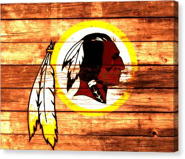 The Washington Redskins 3a Canvas Print by Brian Reaves