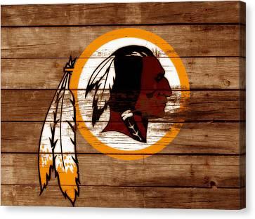 The Washington Redskins 3b Canvas Print by Brian Reaves