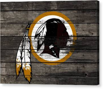 The Washington Redskins 3c Canvas Print by Brian Reaves