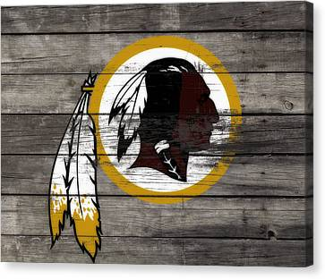 The Washington Redskins 3e Canvas Print by Brian Reaves