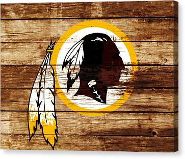 The Washington Redskins 3f Canvas Print by Brian Reaves