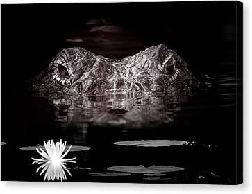 The Watcher In The Water Canvas Print