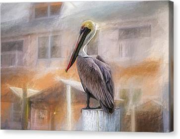 Canvas Print featuring the mixed media The Watcher by Joel Witmeyer