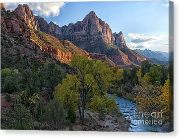 The Watchman And Virgin River Canvas Print